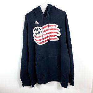 Adidas Men's USA flag soccer hoodie pullover XL